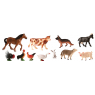 [Műanyag állatkák - a farmon 11 ks]