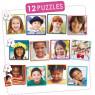 [12 db puzzle készlet - A világ gyermekei]