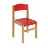 [Bükkfa szék - ülésmagasság 31 cm - piros]