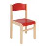 [Fa szék JUHAR - üléssmagasság 26 cm - piros]