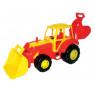 [Nagy traktor markolóval]