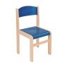 [Fa szék JUHAR - ülésmagasság 38 cm - kék]