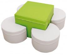 [Asztal és ülőkék - készlet - zöld / szürke]
