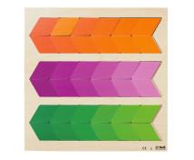 [Kirakós puzzle - Színek és alakzatok - narancssárga,lila,zöld]