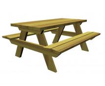 [Asztal padokkal - fából]