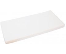 [Jersey, gumis lepedő,, 120 x 60 cm - fehér]
