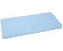 [Jersey, gumis lepedő, 120 x 60 cm - kék]