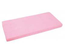 [Jersey, gumis lepedő, 120 x 60 cm - rózsaszín]