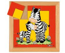[Állatkás puzzle - anyák és kölykeik - Zebra (9 dar]