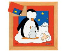 [Állatkás puzzle - anyák és kölykeik - Pingvin (12 darabos)]