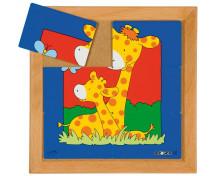 [Állatkás puzzle - anyák és kölykeik - Készlet 8 pu]