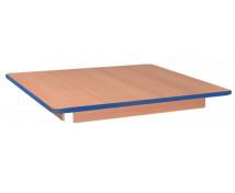 [Asztallap, Bükk - négyzet - kék]