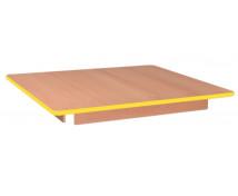 [Asztallap, Bükk - négyzet - sárga]