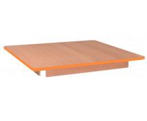 [Asztallap, Bükk - négyzet - narancssárga]