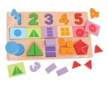 [Puzzle kirakó - számok, színek, formák]