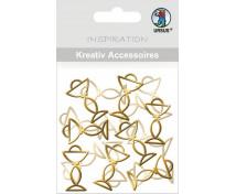 [Arany dekorációs elemek - Kehely (3,3 x 1,9 cm)]