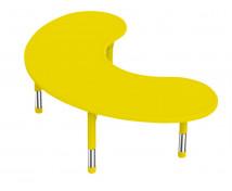 [Műanyag asztallap- Félhod, sárga]