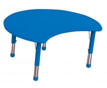 [Műanyag asztallap - Félkör, kék]