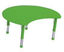 [Műanyag asztallap - Félkör, zöld]