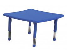 [Műanyag asztallap - Hullámos négyzet - kék]