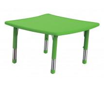 [Műanyag asztallap - Hullámos négyzet - zöld]