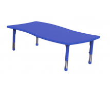 [Műanyag asztallap - Hullámos téglalap - kék]