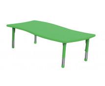 [Műanyag asztallap - Hullámos téglalap - zöld]