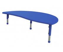 [Műanyag asztallap - Hullámos félkör - kék]