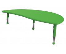 [Műanyag asztallap - Hullámos félkör - zöld]