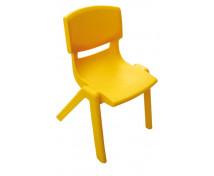 [Műanyag szék - magasság 38 cm - sárga]