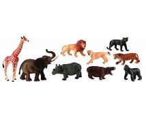 [Műanyag állatkák - Afrika 9 db]