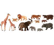 [Műanyag állatkák - Afrika a kicsinyekkel 12 db]