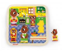 [3D puzzle kirakó - Medve család]