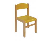 [Bükkfa szék - ülésmagasság 26 cm - sárga]