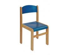 [Bükkfa szék - ülésmagasság 26 cm - kék]