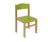 [Bükkfa szék - ülésmagasság 31 cm - zöld]