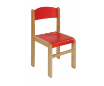 [Bükkfa szék - ülésmagasság 35 cm - piros]