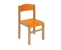 [Bükkfa szék - ülésmagasság 35 cm - narancssárga]