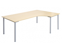 [Íróasztal fém lábakkal - sarok - jobb]