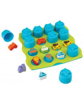 3D Memóriajáték - Rács és poharak