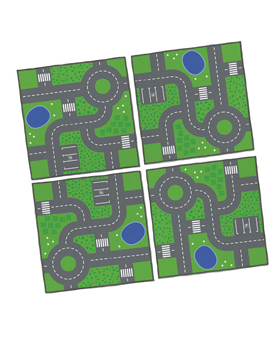 Szőnyeg puzzle- Utak, 1 db
