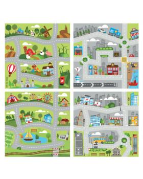 Szőnyeg készlet - Város és vidék