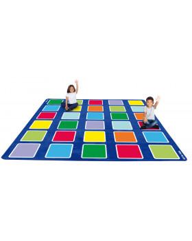 Szőnyeg - Színes négyzetek