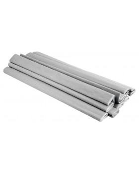 Krepp-papír - fémes ezüst