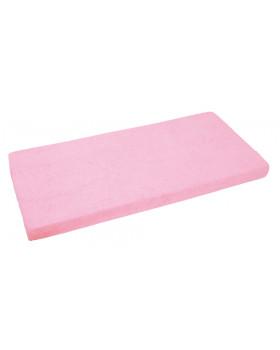 Froté, gumis lepedő, 140 x 70 cm - rózsaszín