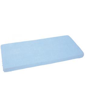 Froté, vízálló, gumis lepedő 140 x 70 cm - kék
