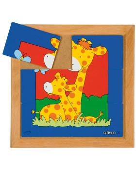 Állatkás puzzle - anyák és kölykeik - Készlet 8 pu