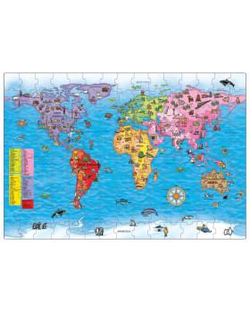 Angol nyelvű Puzzle - Világtérkép