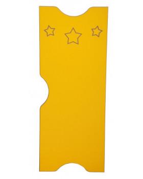 Csillag ajtó - Ementál szekrényhez - sárga