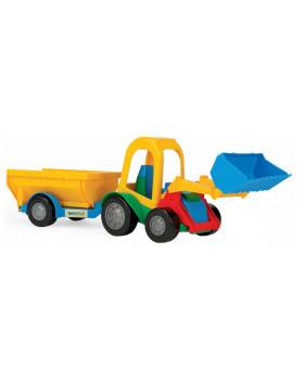 Traktorok és autók - Traktor billenős pótkocsival